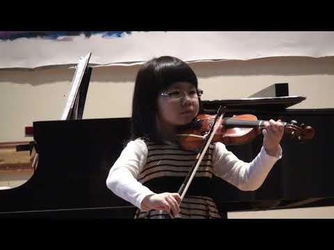 2017 Suzuki Violin Solo Recital: Song of the Wind + O Come, Little Children.