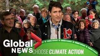 Canada Election: Liberal Leader Justin Trudeau talks environment, upcoming debate