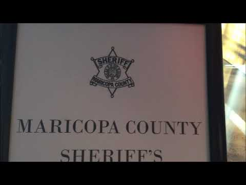 Maricopa County Sheriff Complaint Form Stand Display at Library; Arizona