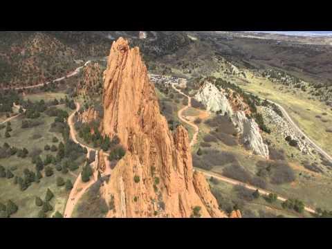 Garden of the Gods Colorado Springs Aerial Footage