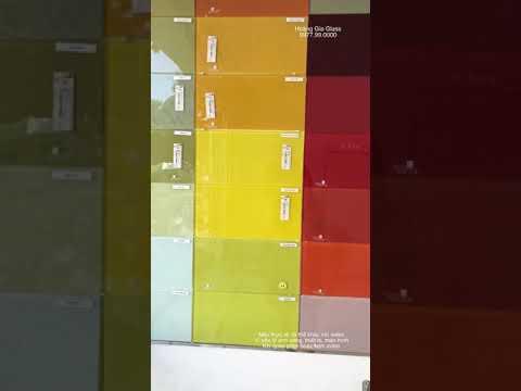 Kính ốp bếp - Bảng màu kính ốp bếp Hoàng Gia
