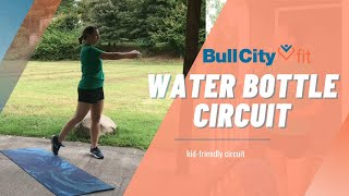 WATER BOTTLE CIRCUIT | Kid-Friendly Circuit by Bull City Fit