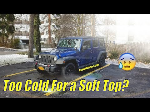 Jeep soft top in winter