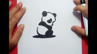 Como dibujar un oso panda paso a paso 2   How to draw a panda 2