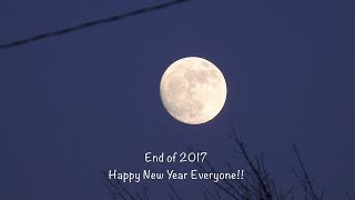 The 98% Moon Waves Goodbye to 2017!