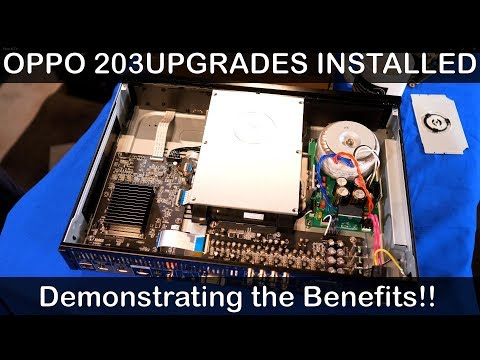 Oppo UDP 203 UPGRADE Time Part #2 Hear what the upgrades what done Home Cinema UHD 4K HDR Blu Ray
