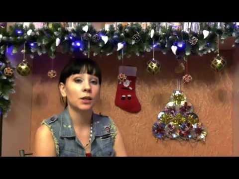 Cмотреть видео Новогодняя елка из дисков
