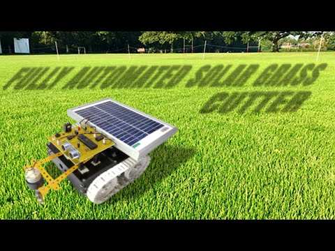 Make it Yourself Solar Lawn Cutter Grass Trimmer Robot Robotics Project