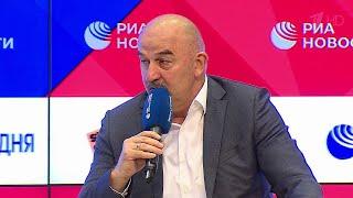 О выступлении сборной России по футболу на чемпионате Европы говорил главный тренер С Черчесов