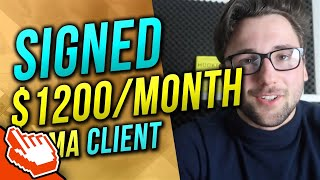 I Signed ANOTHER $1200 Per Month Client For My Social Media Marketing Agency | SMMA thumbnail