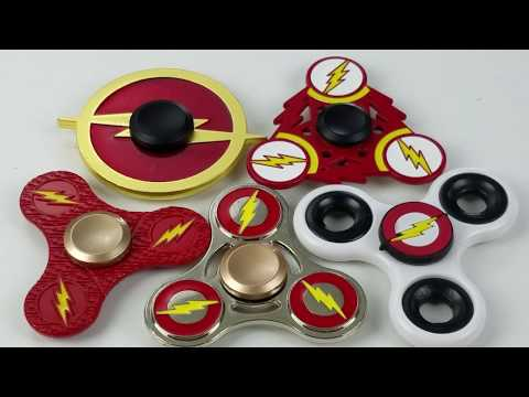The Flash Super Hero Fidget Hand Spinner Collection Review