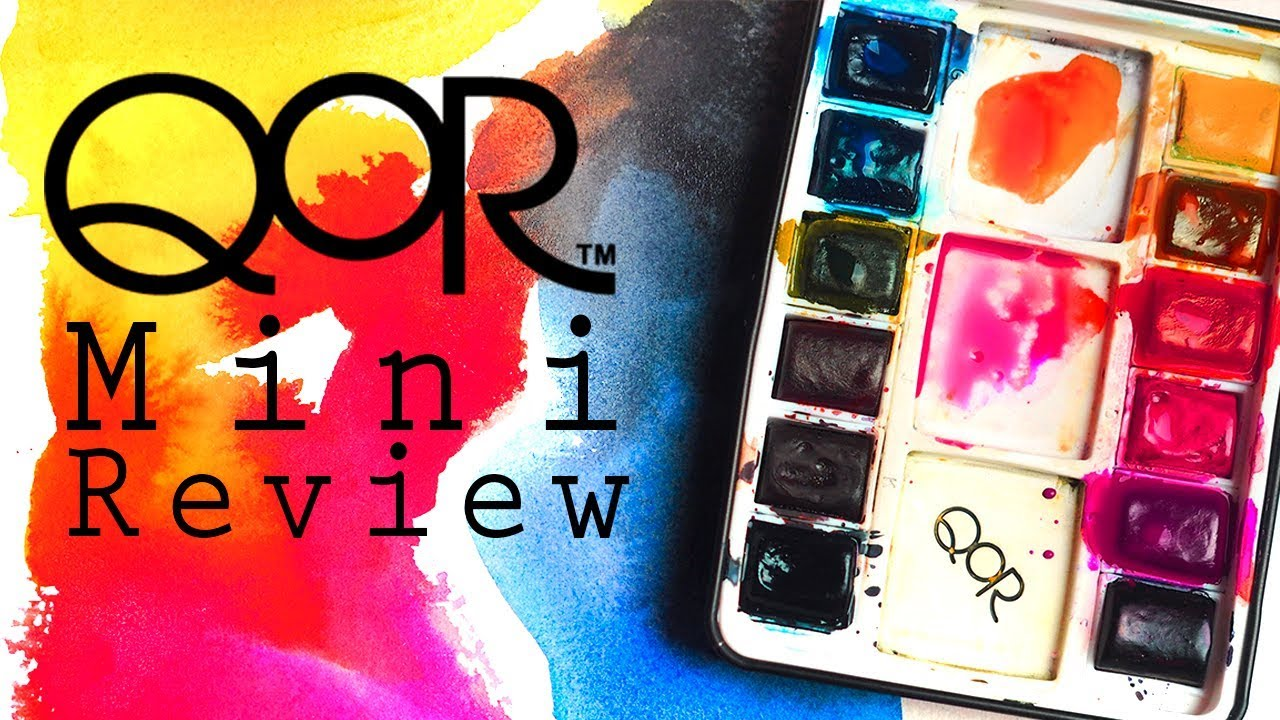 0bc32d061 QoR Mini Review • Half Pan Travel Watercolor Palette - YouTube