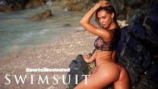 Watch Alexis Ren Get Hit By A Big Wave In Aruba | Sports Illustrated Swimsuit