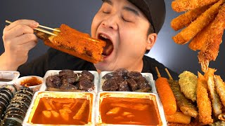 Ddeokbbokki, Kimbab, fried platter, and Soondae, every snack at once!! Snack special Mukbang~!!