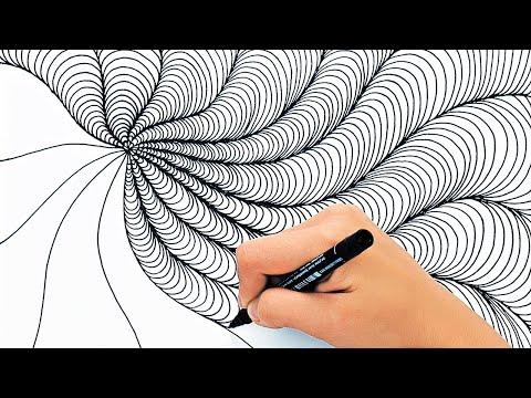 เทคนิคการวาดภาพเพื่อการผ่อนคลาย || วิดีโอเพื่อการผ่อนคลายและเพลิดเพลิน