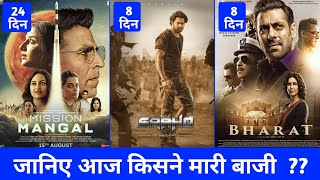 Saaho Vs Mission Mangal Box Office Collection, Saaho Box Office Collection, Saaho 8th Day Collection