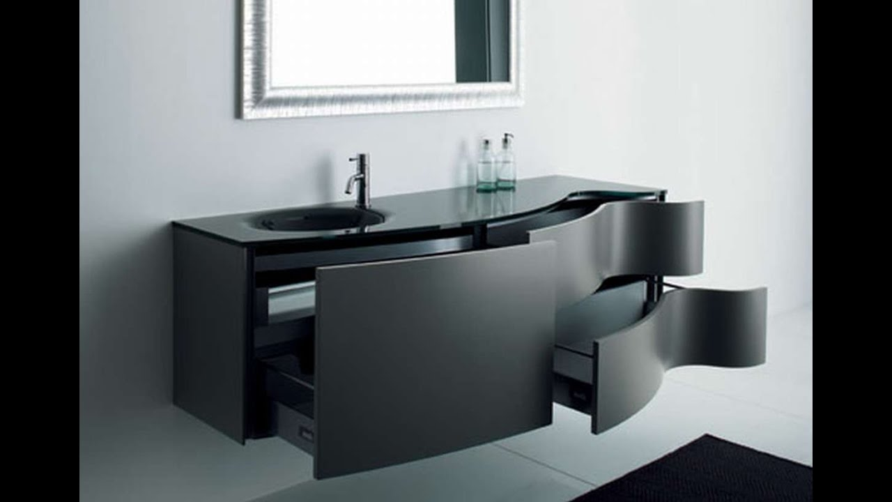 Contemporary Bathroom Furniture Cabinets Ideas - YouTube