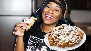 HOW TO MAKE FUNNEL CAKE! THE EASY WAY!