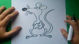 Como dibujar un raton paso a paso 3 | How to draw a mouse 3