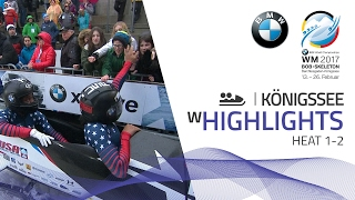 Highlights Heat 1-2 | Meyers Taylor makes her statement | BMW IBSF World Championships 2017