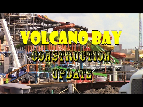 Universal Orlando Resort Volcano Bay Construction Update 2.7.17 TESTING & TONS MORE!