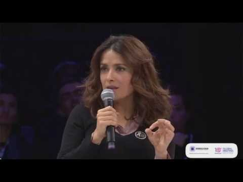 #WF14 - For justice for all women with Salma Hayek Pinault