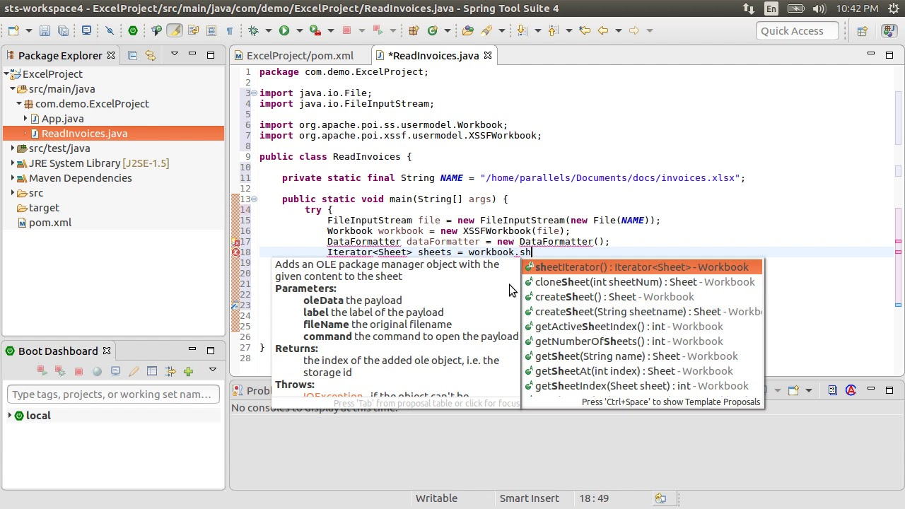 Read Excel files with Java