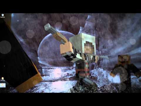 Animated Minecraft Assassin's Creed IV Black Flag Wallpaper