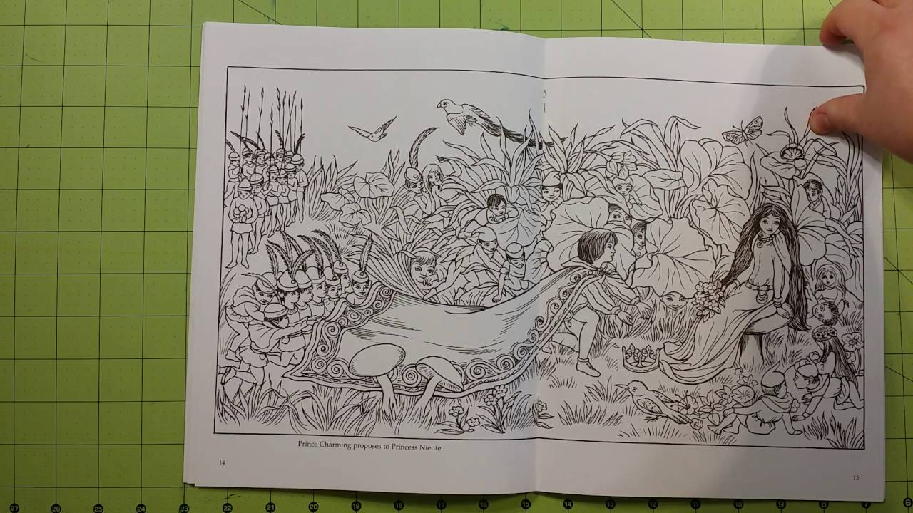 The fairyland adult dover coloring book review flip through - YouTube