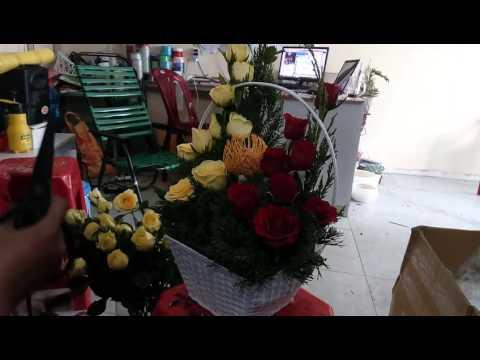 Hướng dẫn cắm Giỏ Hoa Shop Hoa Quận 1 DienHoa24gio.net