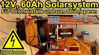 12V Solarsystem mit 60 Ah