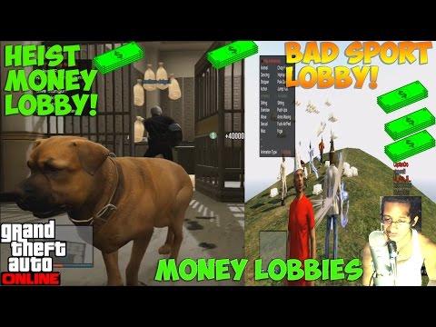 GTA 5 {GOOD DEEDS} (MONEY LOBBIES) CHOP BANK HEIST BAD SPORT LOBBY EXTORTION V3.2 MOD MENU