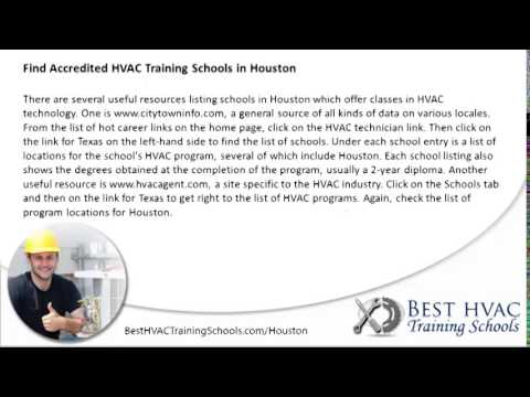 Top HVAC Training Schools in Houston   TX HVAC Certification ...