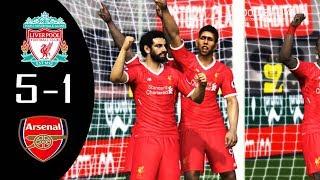 PES 2017 | Liverpool vs Arsenal | M.Salah scored 3 Goal & Full Match | Gameplay PC