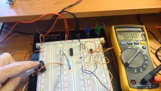 Solar Powered Kindle  - Part 14: Schmitt Trigger, 555 timer..working.