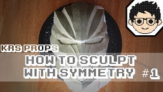 How To Sculpt a Mask with Symmetry Using Clay Part 1