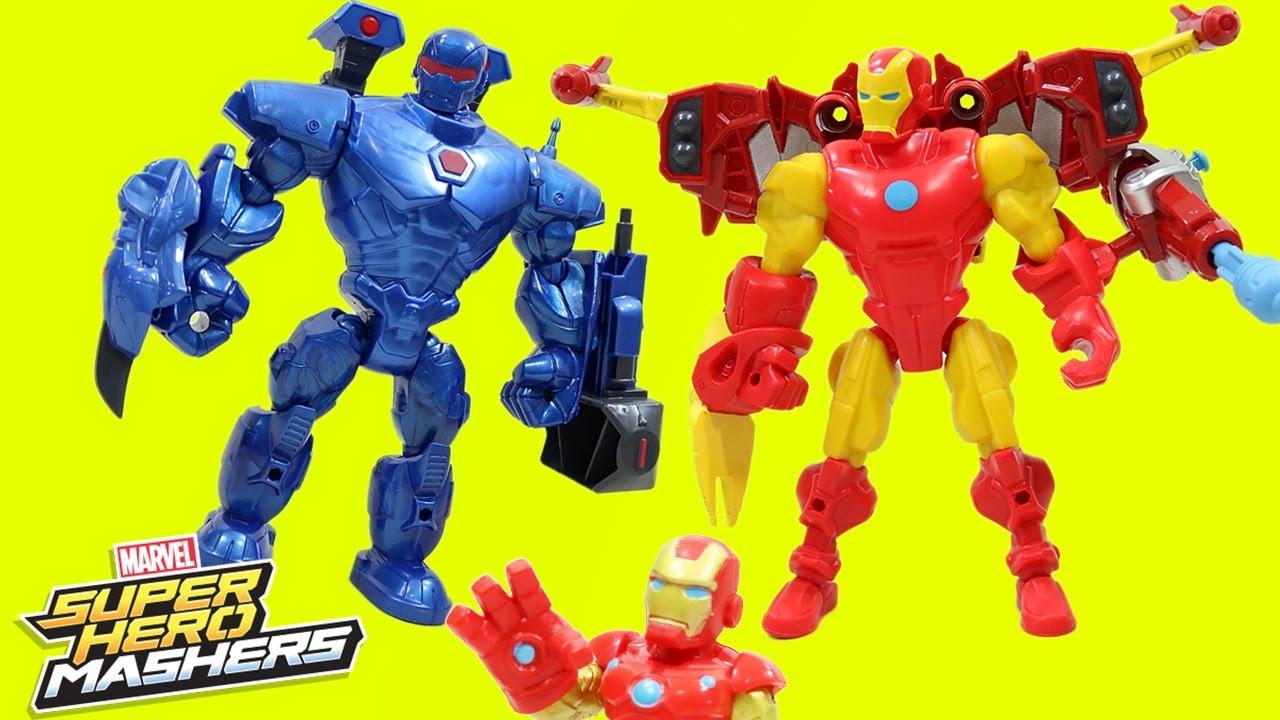 Marvel Super Hero Mashers Iron Man Vs Iron Monger Mash Pack Iron Man Team!!  - YouTube eb97113d69