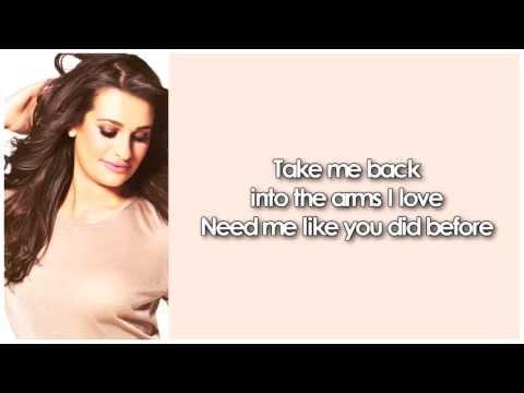 Glee - To Love You More (Lyrics)