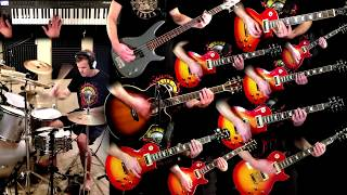 the garden guns n roses guitar solo bass drum synth cover tabs