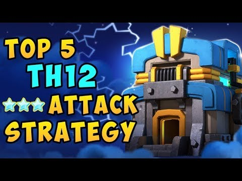 BEST TOWN HALL 12 ATTACKS! WATCH THESE TACTICS SMASH 12TH BASES ON CLAN WARS!