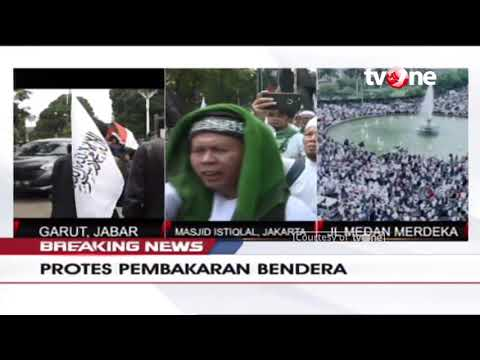 [BREAKING NEWS] Aksi Protes Pembakaran Bendera Di Jakarta