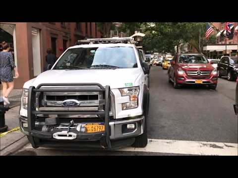 WALK AROUND OF THE RARE NYCDOT EMERGENCY RESPONSE VEHICLE ON E. 63RD ST. ON EAST SIDE OF MANHATTAN.