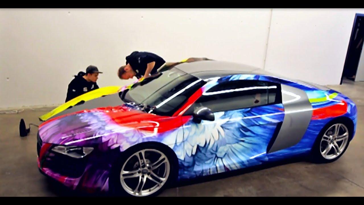 Audi Q >> Beschriftung/Folierung von Fahrzeug durch SIGNal Reklame (Audi R8, Timo Wuerz) - YouTube