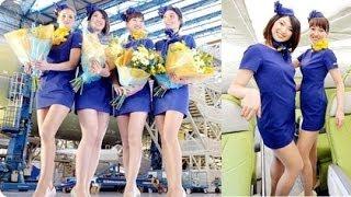 天馬航空 日本航空姐 超短迷你裙制服 惹議