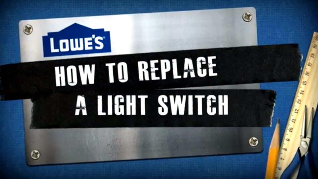How to Replace a Light Switch - YouTube