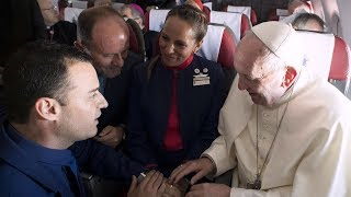 Pope Francis Gives Flight Attendants Impromptu Wedding Mid-Flight