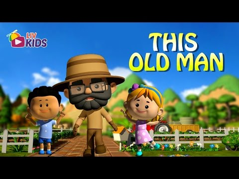 This Old Man with Lyrics | LIV Kids Nursery Rhymes and Songs | HD
