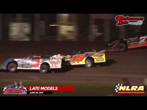 NLRA Late Model Highlights – June 16th, 2017 Make-up Feature –River Cities Speedway