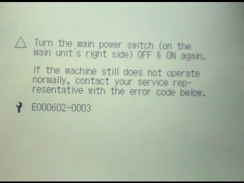 HOw To Fix Canon IR 3300 ERROR E602 -03 HARD DISK ERROR