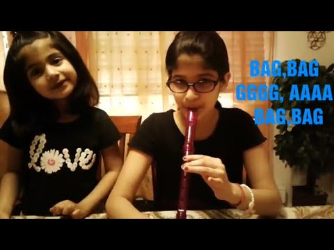 """How to play """"Hot cross buns"""" on recorder with notes!(96)"""